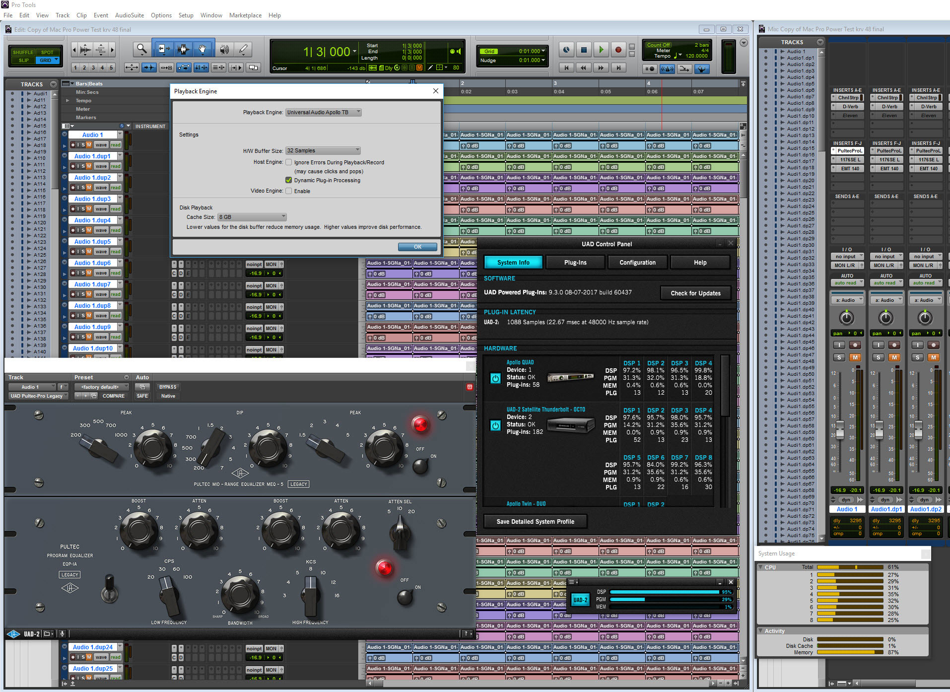 UAD v9.3 Running In Pro Tools 12.7.1 - Click on image to see the full sized image