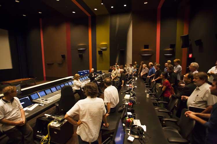 Anna Behlmer hosting a Cinema Society Visit to Technicolor at Paramount