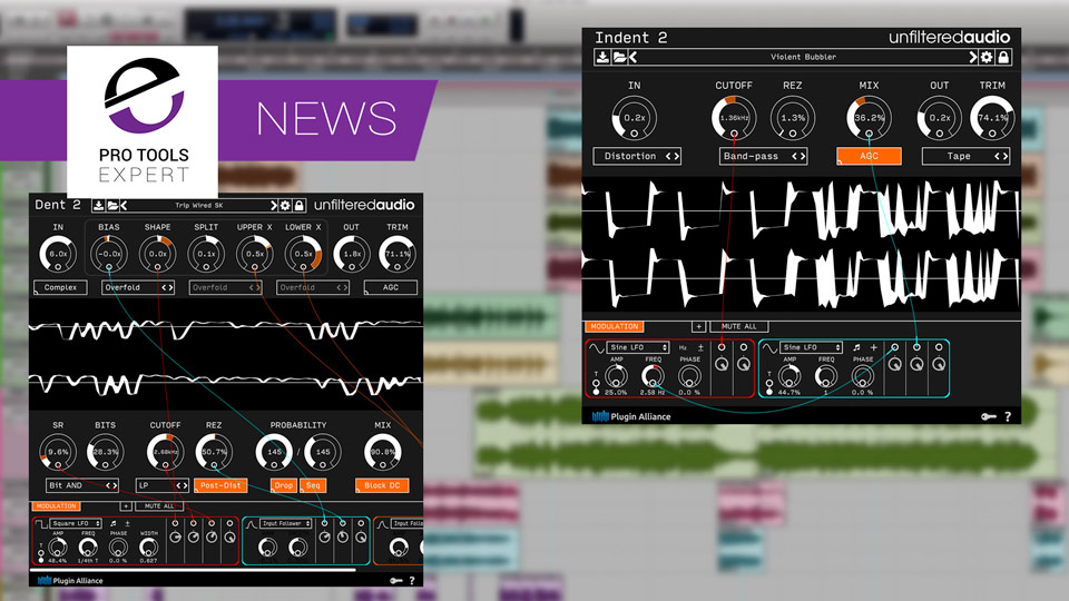 Plugin Alliance Release Unfiltered Audio Dent 2 And Indent 2 Distortion Plug-ins