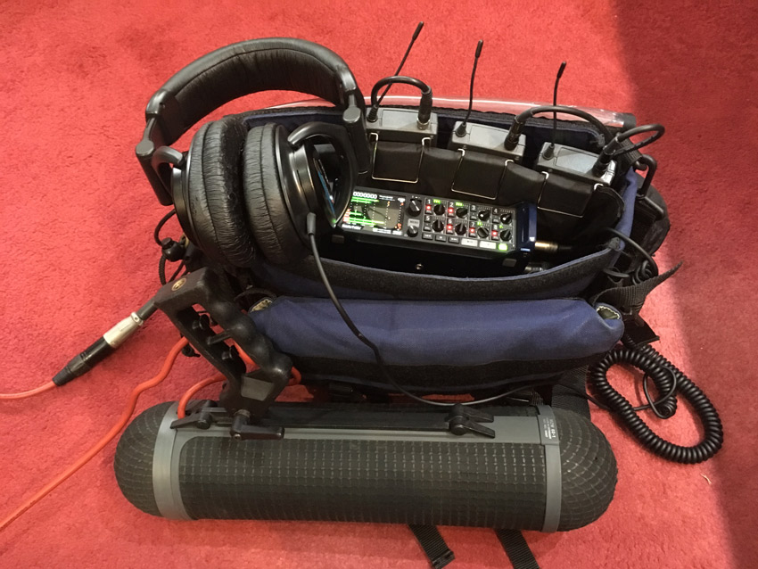 Mike's Electric Handbag with Zoom F8 Field Recorder