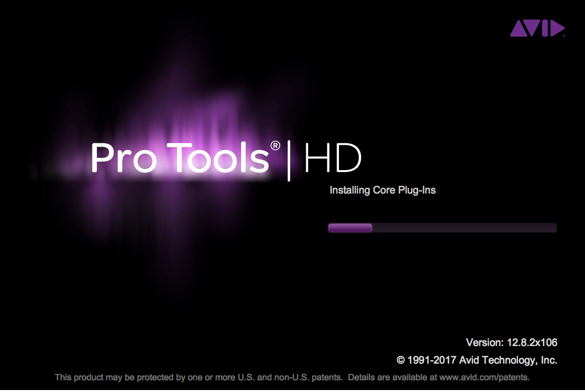 Pro Tools 12.8.2R2 splash screen
