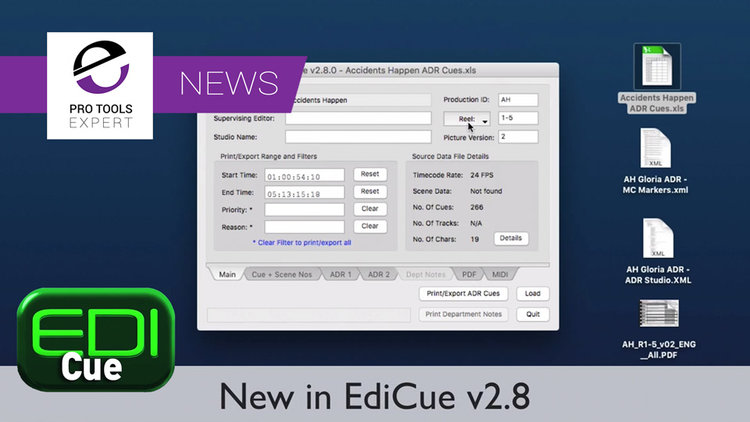 Sounds In Sync Release An Update To EdiCue With New Import Options
