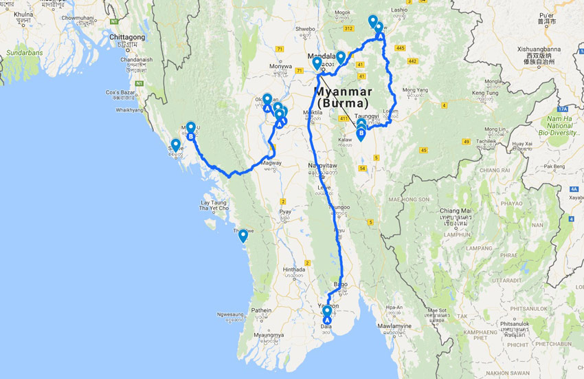 Myanmar Travel Log From Guido Helbling At Avosound