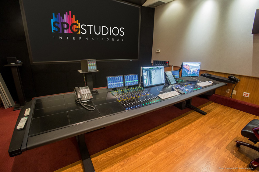SPG Studios Stage 5 with Avid S6 control surface