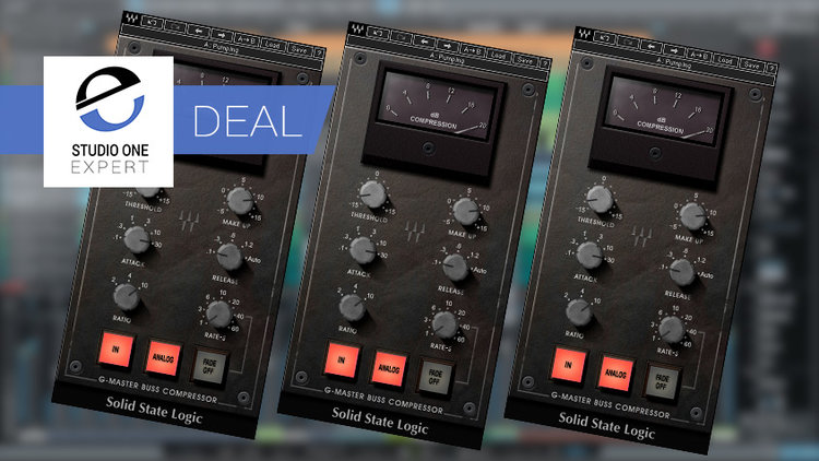 Waves SSL G-Master Buss Compressor Deal $29 1 Day Only | Studio One
