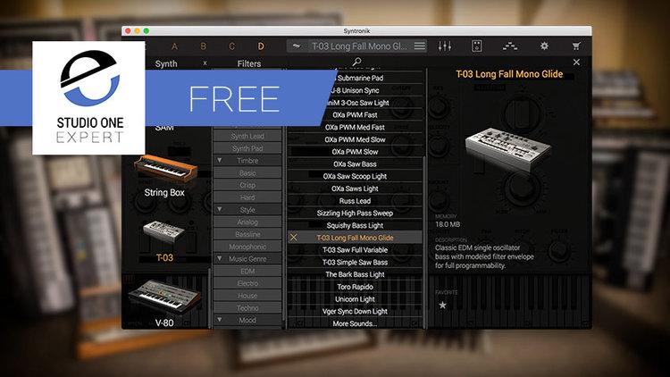 Free Plug-in Of The Week - IK Multimedia Syntronik Free | Studio One
