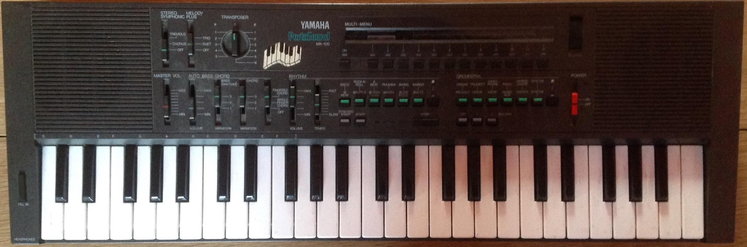 Free Kontakt Library: Yamaha Portasound MK-100 (1983