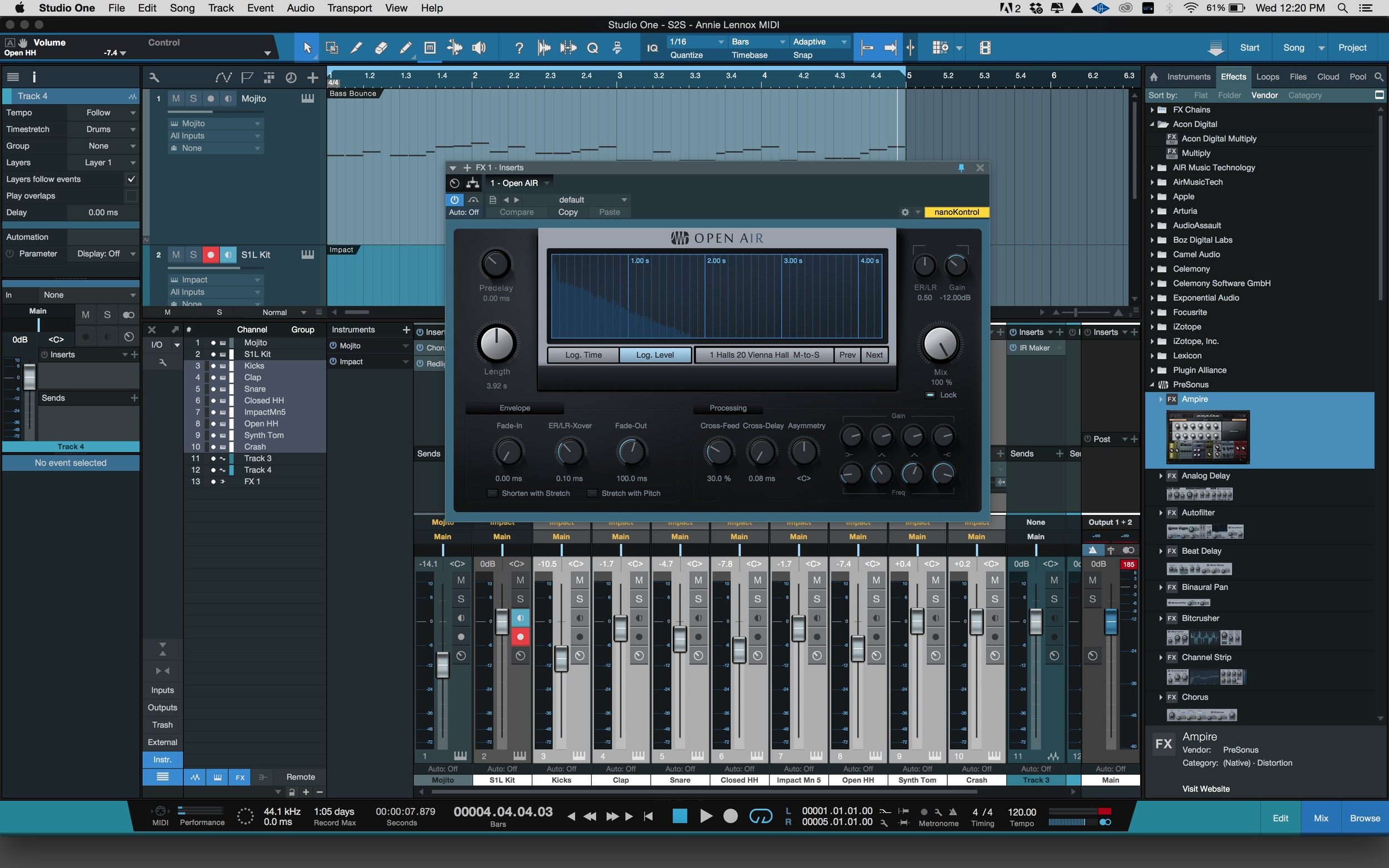 How to Make Your Own Reverbs for Use in Studio One 3