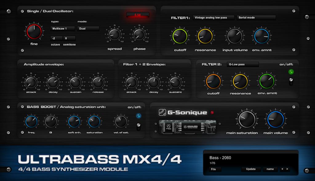 G-Sonique Ultrabass MX4/4