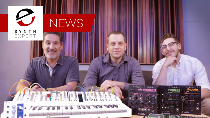 L to R: Andy Rossi, James Sajeva, and Nick Kwas of Korg.