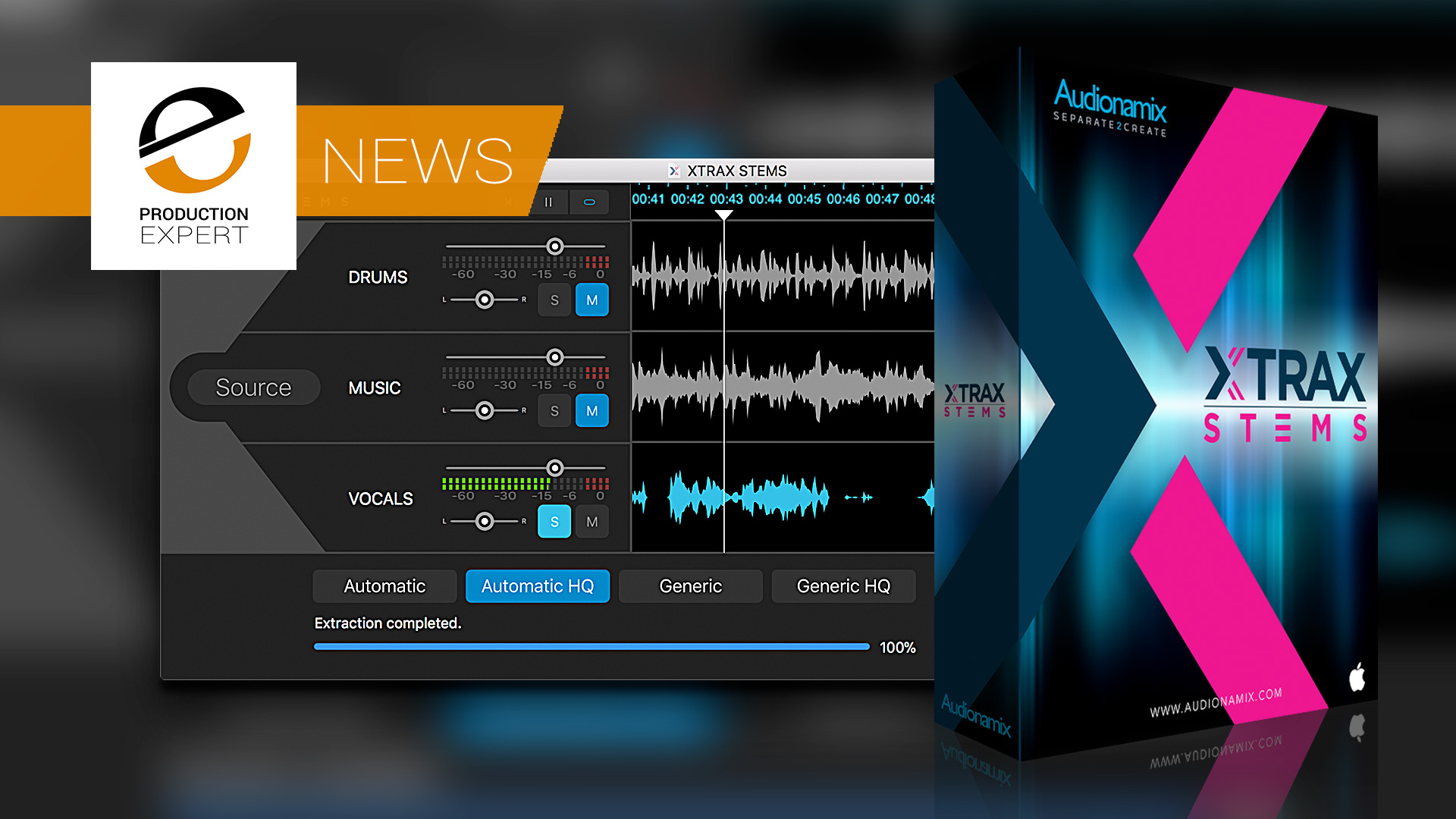 Audionamix XTRAX STEMS - Separate Mixed Music Into Vocals