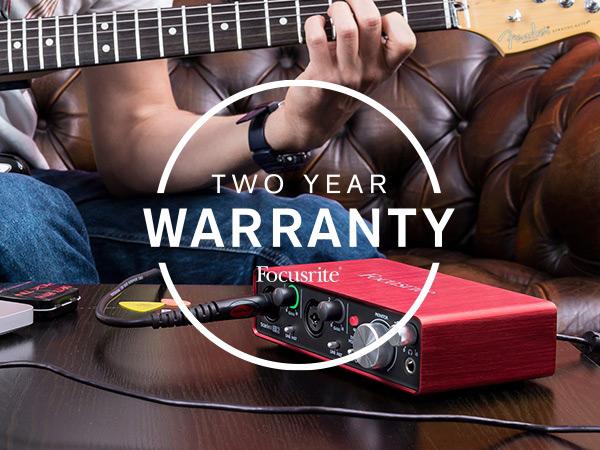Focusrite Offer 2 Year Warranty