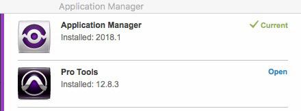 Avid Application Manager 2018.1