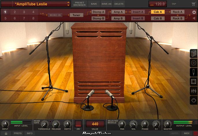 IK Multimedia AmpliTube Leslie Interface
