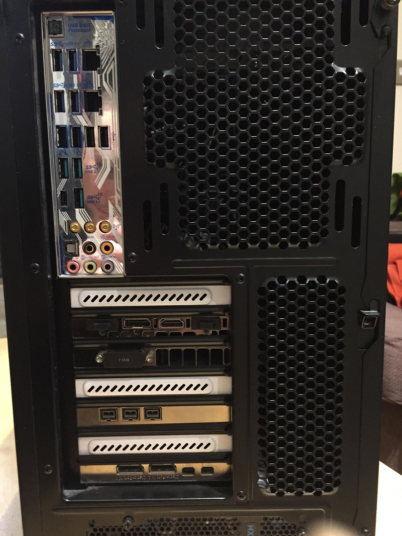 Self Build Pro tools Host computer Back Panel