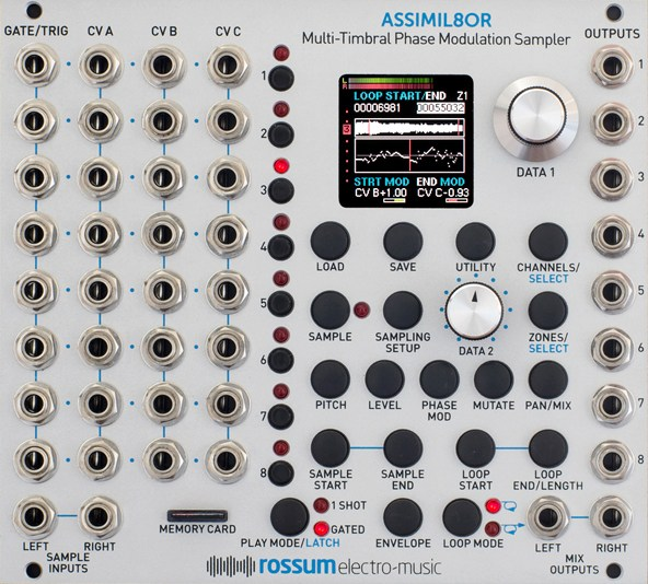 Rossum Electro Music Assimil8or, an eight-channel Eurorack sampler.