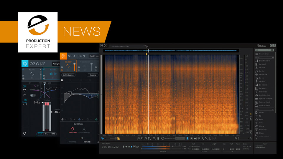 iZotope Announce Updates To Ozone 8, RX6 And Neutron 2