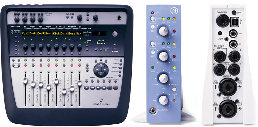Digidesign 002 Interface and Control surface and Mbox 1 interface