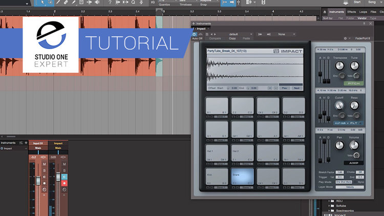 Make A Drum Loop Your Own Using Impact In Studio One   Studio One