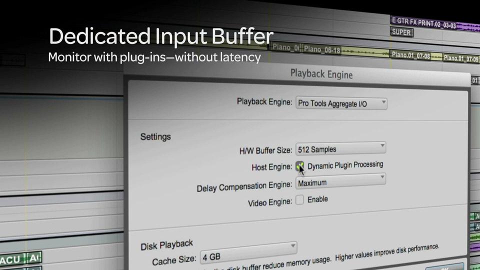 Pro tools 11 Dedicated Input Buffer