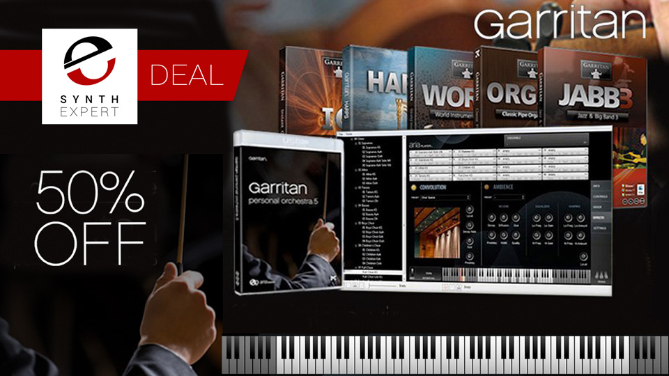 Save 50% On Garritan Personal Orchestra From Time+Space Until 10th April 2018