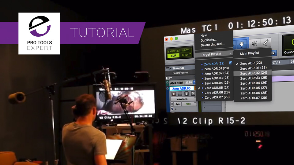 Free Tutorial - How To Use Track Comping In Pro Tools In ADR Audio Post Production Workflows