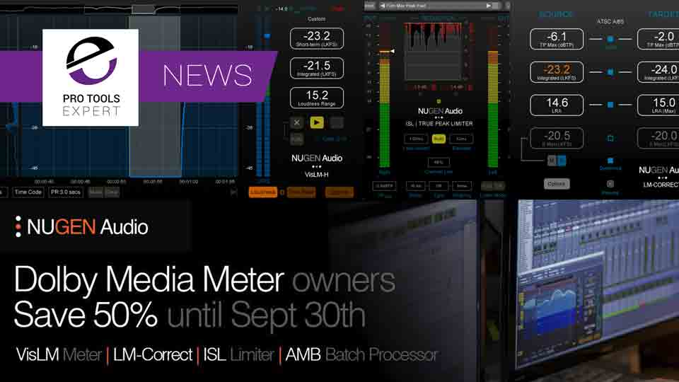 Dolby Media Meter To Be Discontinued - Nugen Audio Offer 50% Discount To DMM Owners