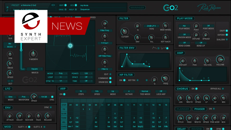 Rob Papen Release New Go2 Synthesizer With Introductory Offer