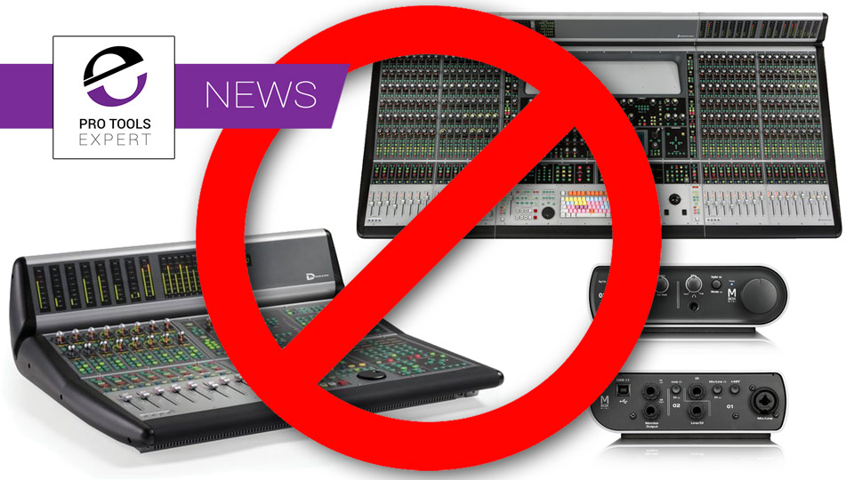 Avid Mbox Mini, Black Faced D-Control And D-Command Control Surfaces Will No Longer Supported Before The End Of 2018