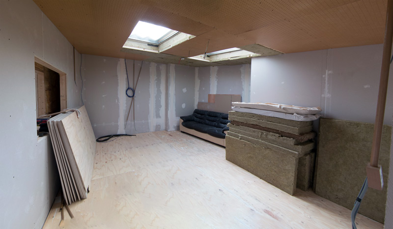 Control Room 2 Plaster Board Stage