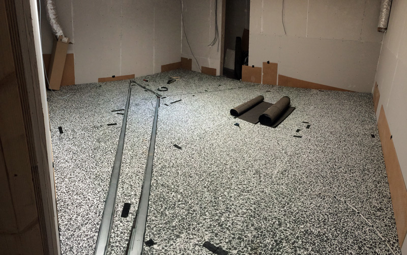 HD Foam And Channeling On Control Room 1 Floor