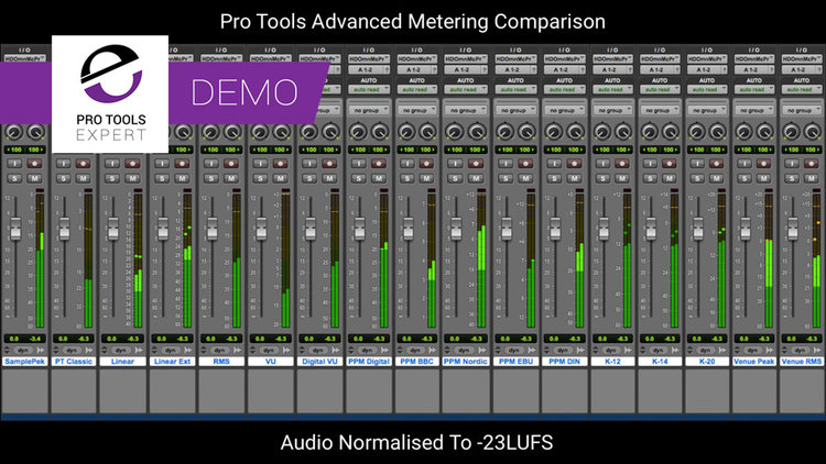 Tutorial - Understanding The Advanced Metering In Pro Tools | Pro Tools