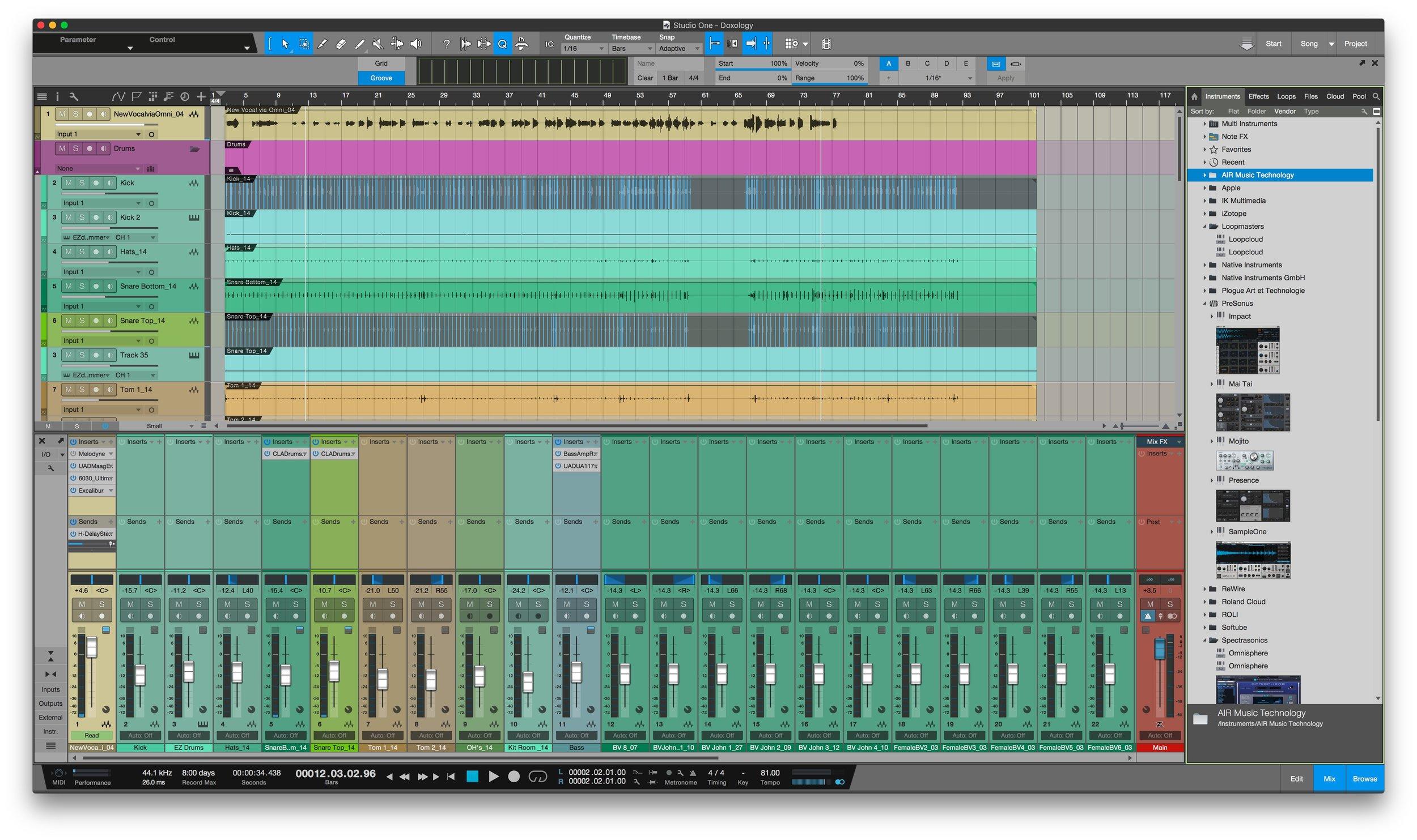 Studio One 4 - Light Colour Scheme