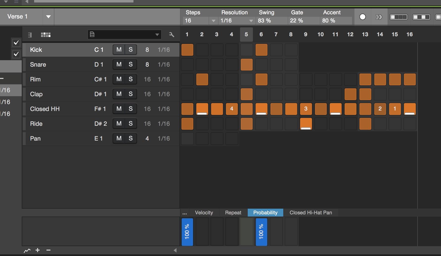 Studio One 4 Pattern Editor