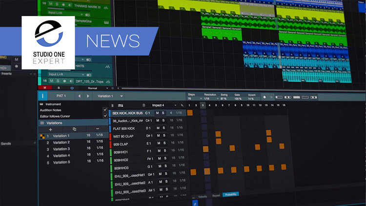 Studio One 4 - PreSonus Announce New Version With Chord Track