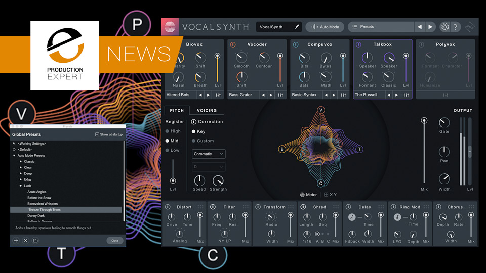 iZotope Release VocalSynth 2 & Creative Suite - We Have 2 Exclusive Reviews
