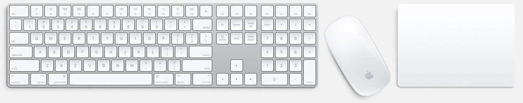 Apple keyboard mouse and trackpad