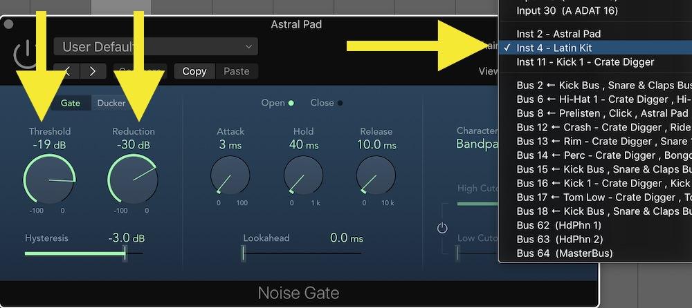 03 Noise gate setup