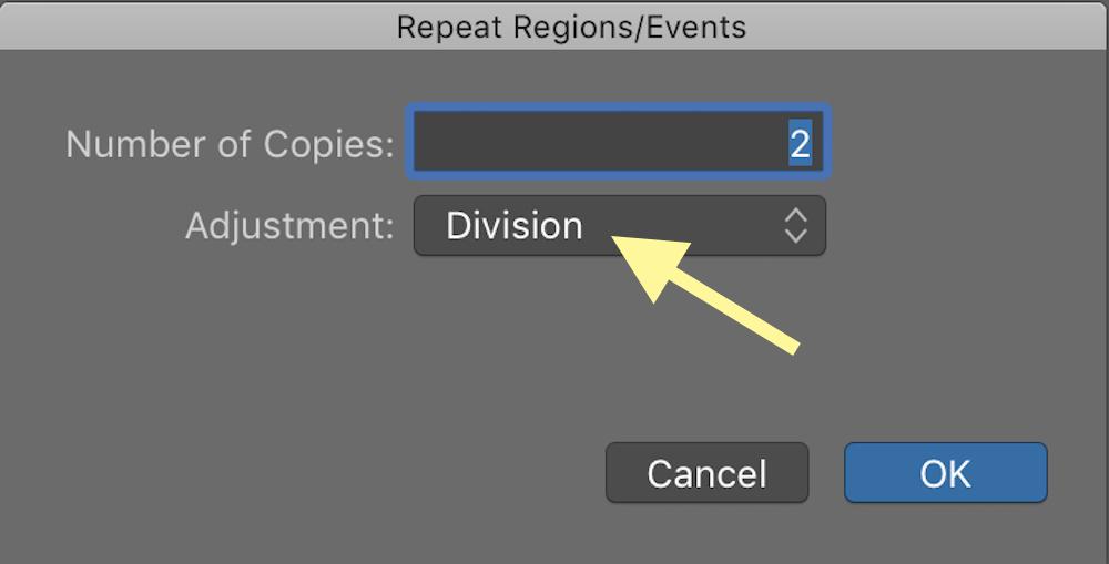 logic pro x repeat multiple window