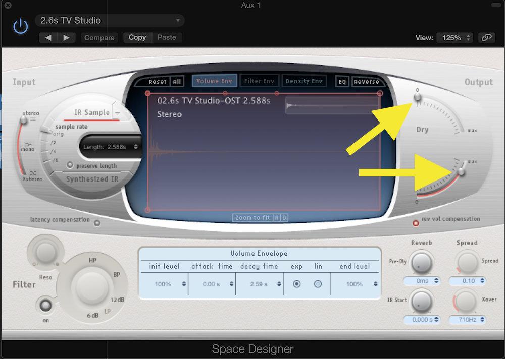 Logic Pro Expansion 03 Reverb Settings