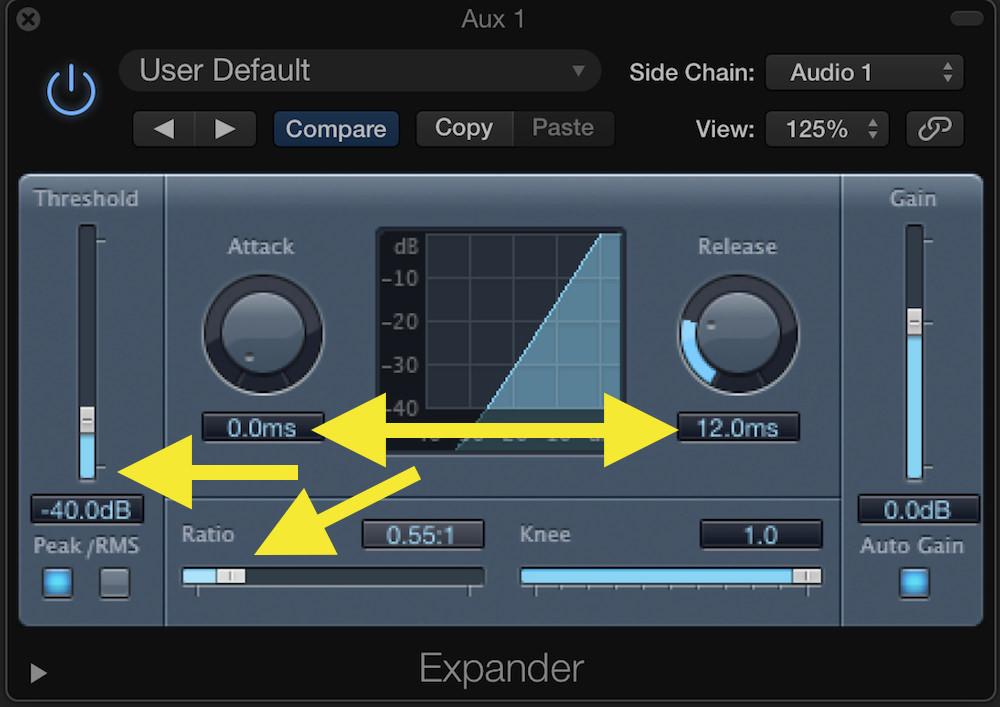 Logic Pro Expansion 04 Expander Settings