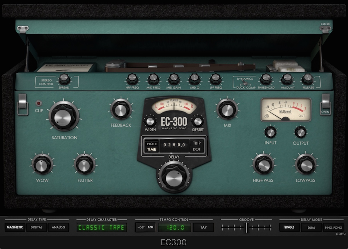 a screenshot of the McDSP EC 300 Echo Collection plugin