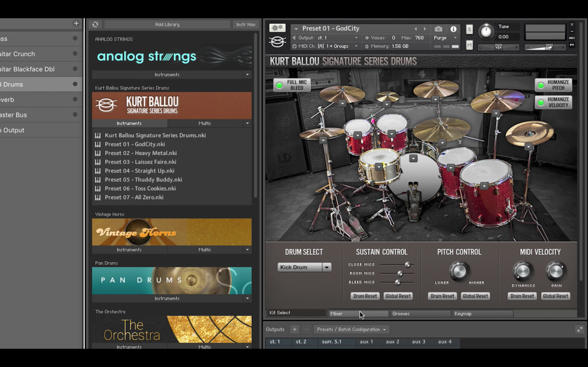 a screenshot of the Review – Kurt Ballou Signature Series Drums for Kontakt