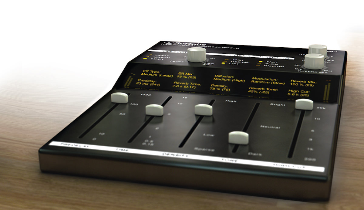 a picture of the softube tsar-1 reverb plugin user interface
