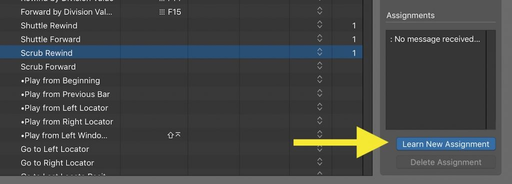 learning a new assignment in logic pro x
