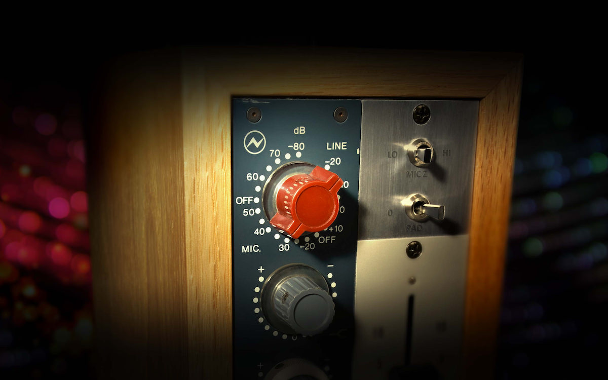 a picture of a vintage neve preamp