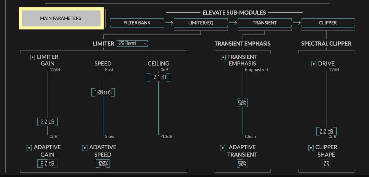 newfangled audio elevate multiband limiter plugin user interface