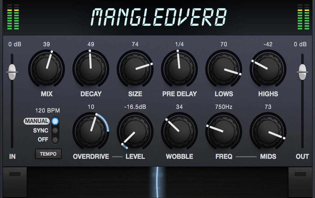 a screenshot of the user interface of mangledverb by eventide