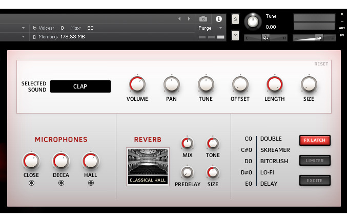 a picture of a free kontakt instrument with choir snaps finger snaps and claps