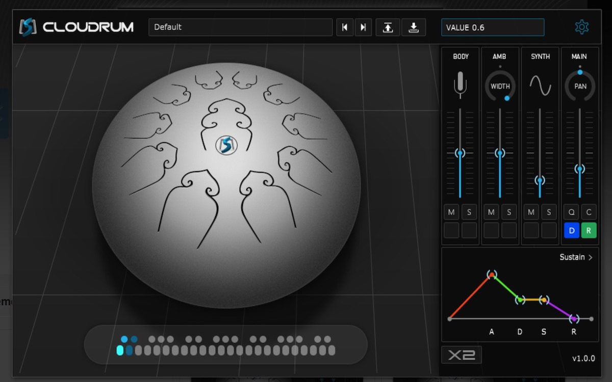 a screenshot of the cloudrum free software instrument by amplesound